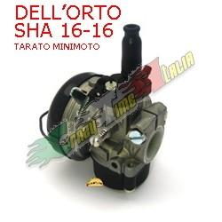 CARBURATORE DELL'ORTO SHA 16 16TARATO PER MINIMOTO