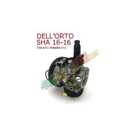 CARBURATORE DELL'ORTO SHA 16 16 TARATO PER MINIMOTO